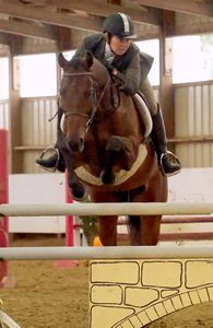 Melanie E. Scott and Turning Leaf Farm showing OTTB