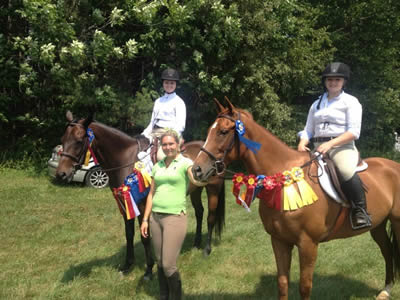 Showing with Turning Leaf Farm and Melanie E Scott